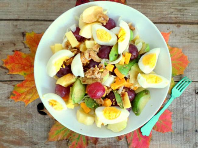 Salade composée d'automne