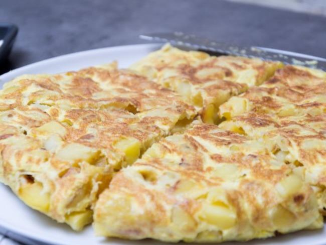 Tortilla aux pommes de terre et oignons