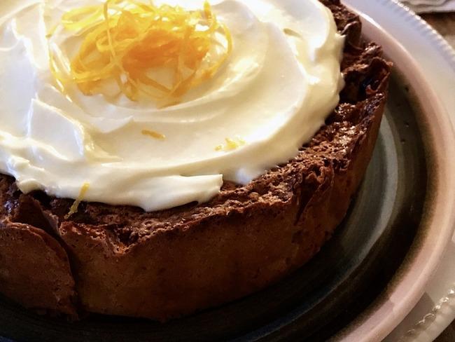 Gâteau au yaourt à l'orange et vanille