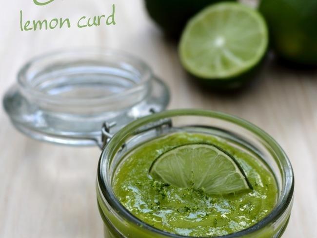 Green lemon curd