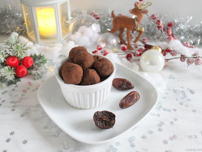 Truffes crues chocolat orange