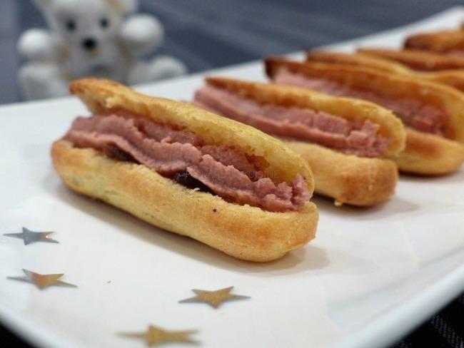 Mini-éclairs au foie gras