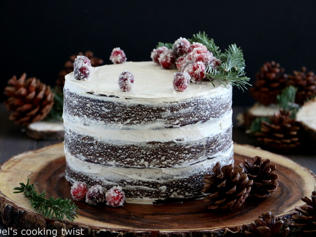 Gingerbread naked cake au caramel