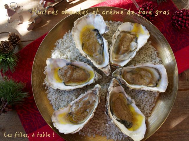 Huîtres chaudes à la crème de foie gras