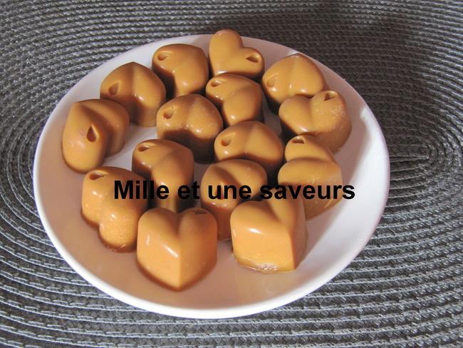 Petit coeur chocolat cacahuètes