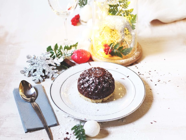 Dôme chocolat et biscuit aux châtaignes