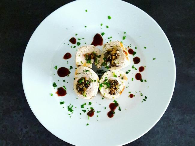 Ballotines de dinde aux champignons et noisettes