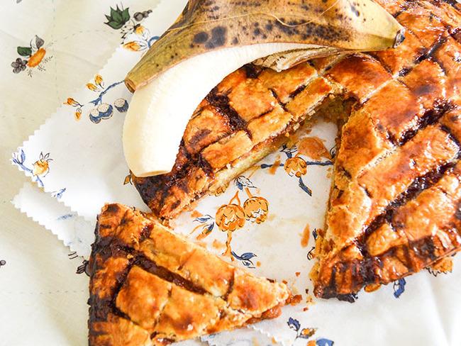Galette des rois banane et caramel