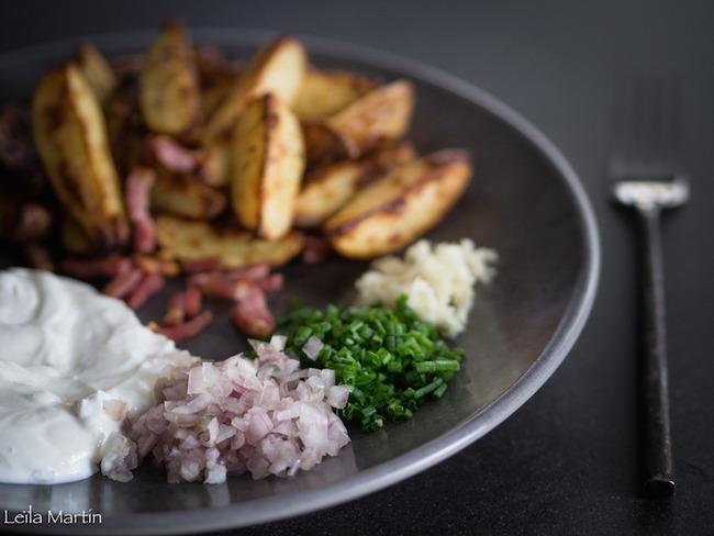 Bibeleskaes et pommes de terre rôties au four