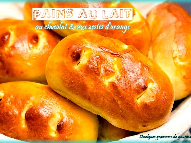Pains au lait au chocolat et aux zestes d'orange
