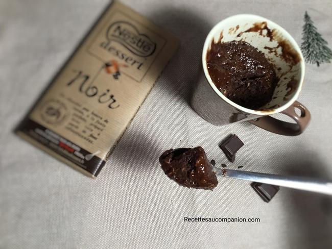 Mugcake fondant ou coulant chocolat noix de coco