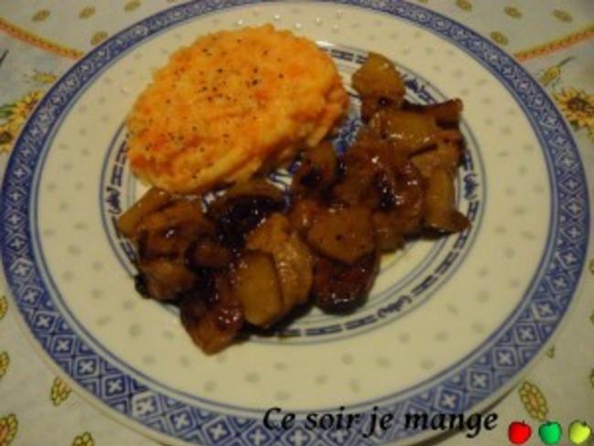 Filet mignon de porc à l'ananas, citron et sauce soja