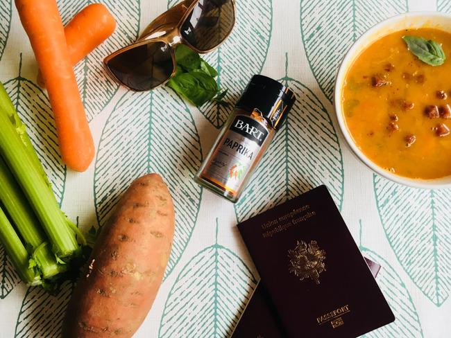Soupe de patates douces, pois chiches et chorizo