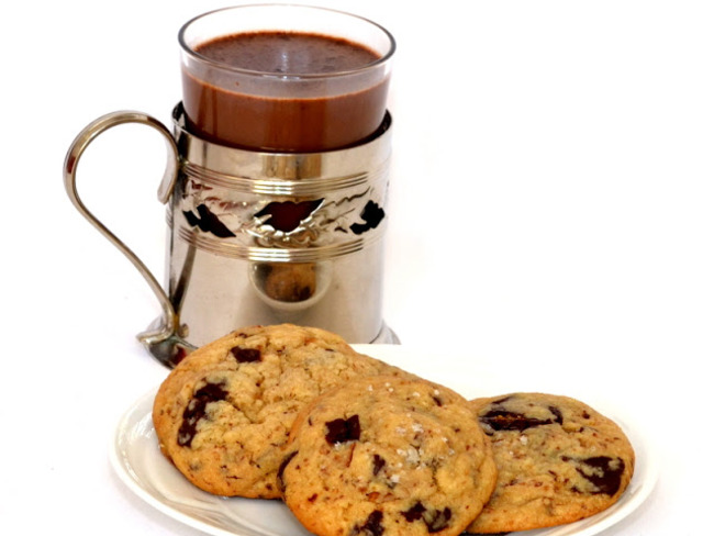 Cookies à la fleur de sel.