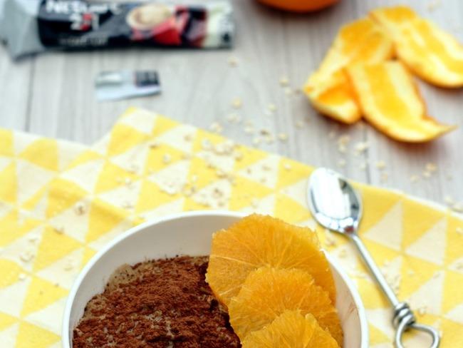Porridge façon tiramisu à l'orange