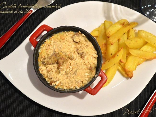 Cassolette d'andouillette au camembert