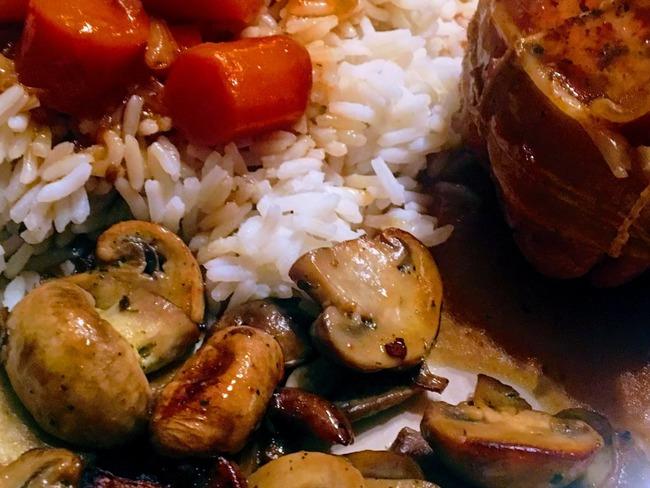 Paupiettes de veau aux carottes et sa poêlée de ...