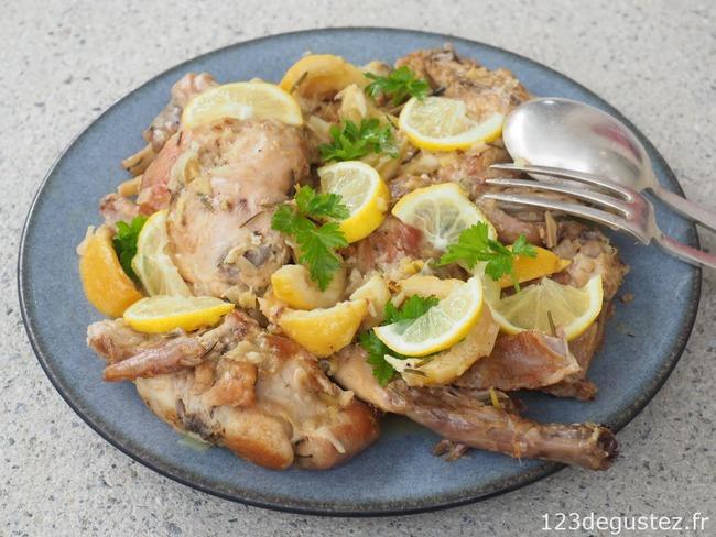 Lapin Au Citron Facile Recette Par Valerie Du Blog 1 2 3