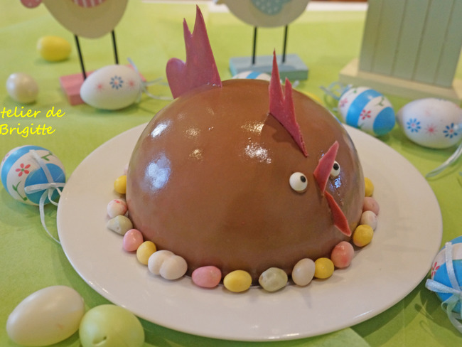 Poule noisette et caramel