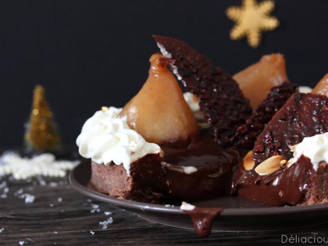 Tarte poire et chocolat