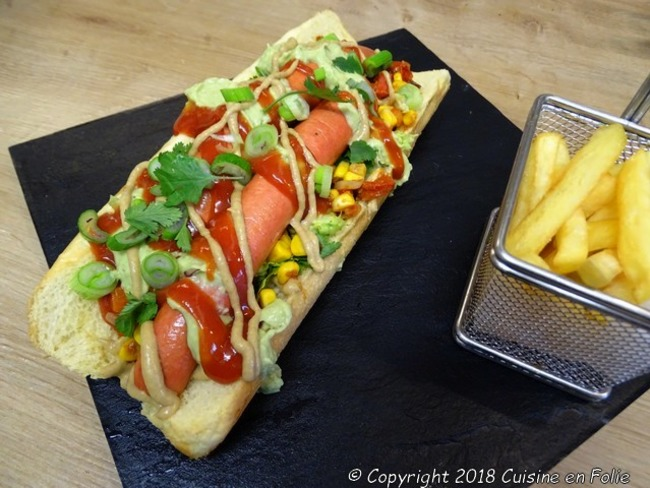 Hot dog à la mexicaine