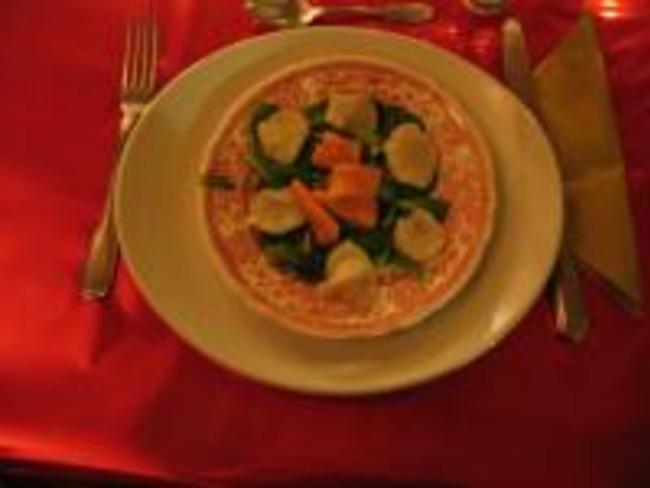 Tartare de saumon et Saint-Jacques