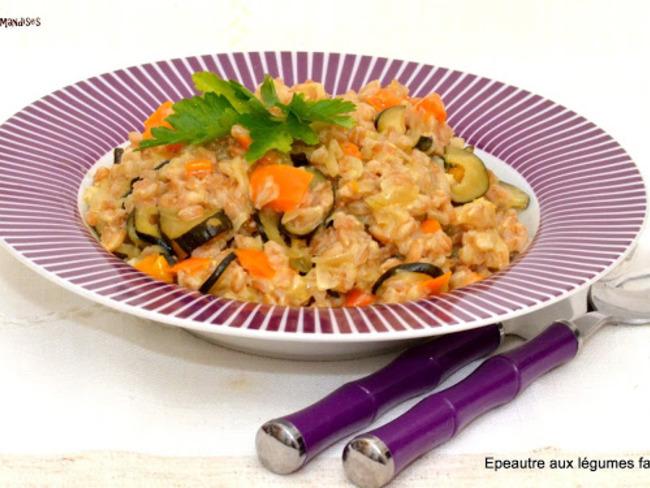 Épeautre Farro aux légumes façon risotto
