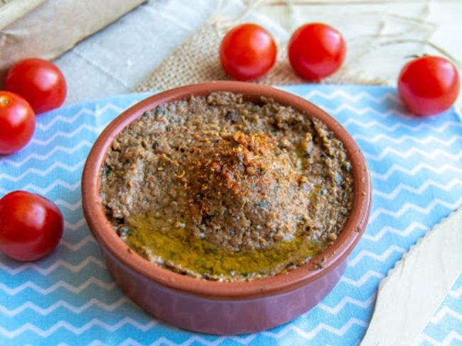 Caviar d'aubergines aux tomates cerises