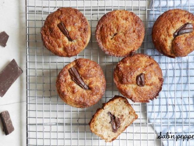 Muffins noix de coco et chocolat