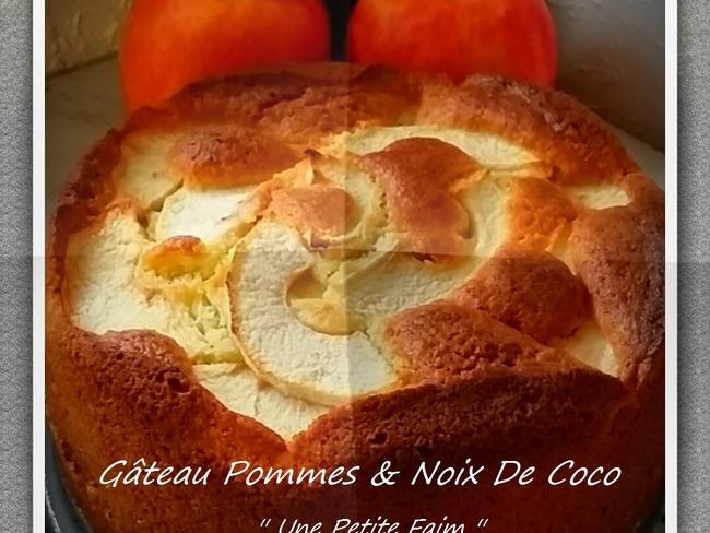 Gâteau pommes et noix de coco