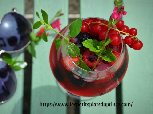 Mocktail aux fruits rouges