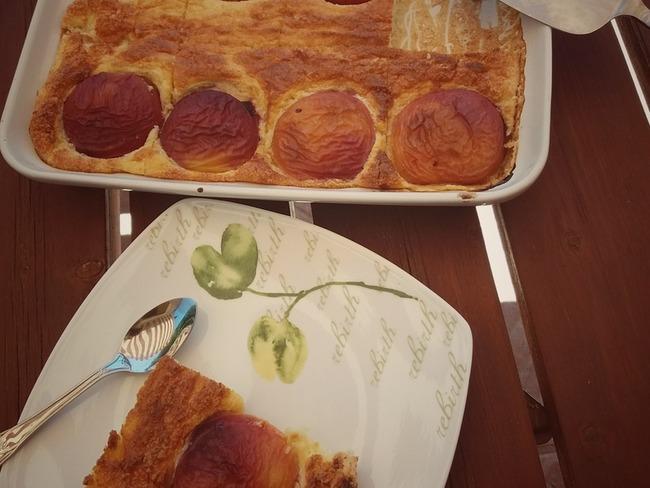 Gâteau de semoule aux nectarines weight watchers