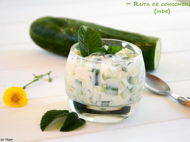 Raïta de concombre