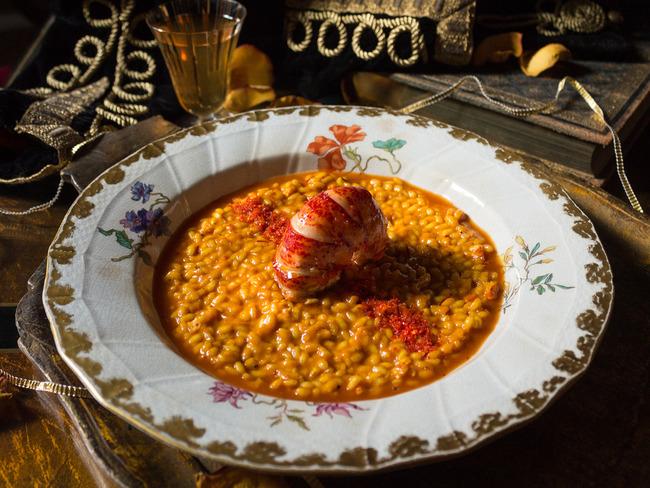 Risotto de homard à la milanese