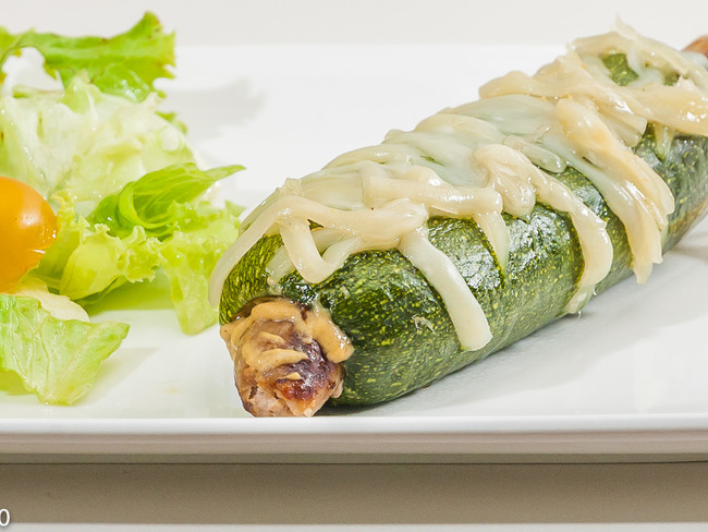 Hot dog de courgette