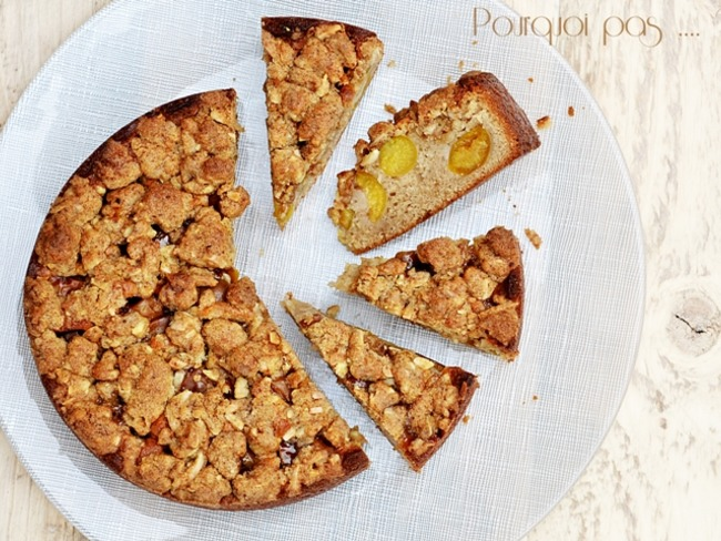 Gâteau croquant aux Mirabelles