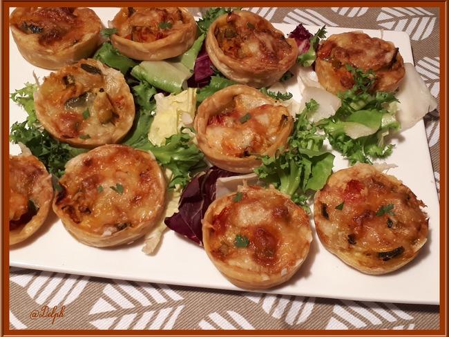Muffins feuilletés tomates courgettes Mozzarella