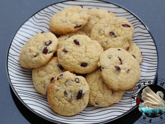 Cookies cranberries chocolat blanc