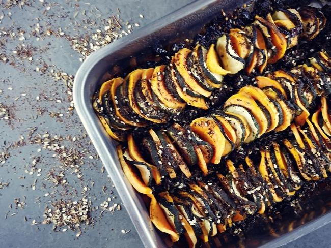Tian de patate douce et courgette