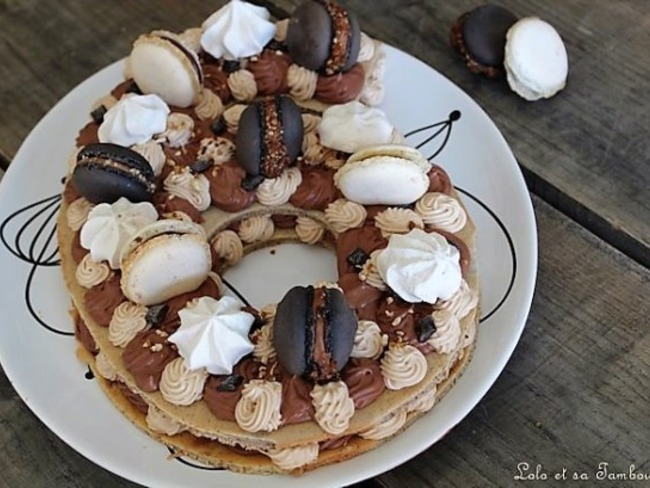 Number cake chocolat et carambars