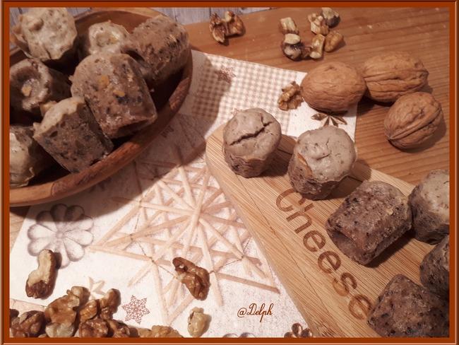 Mini cannelés roquefort et noix