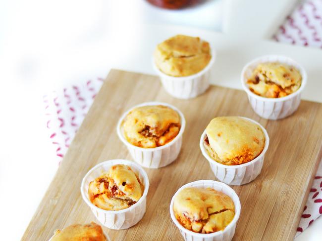 Mini muffins chorizo et tomates confites