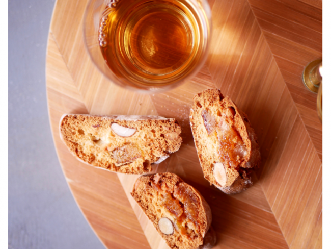 Biscotti miel, pignons et orange confite