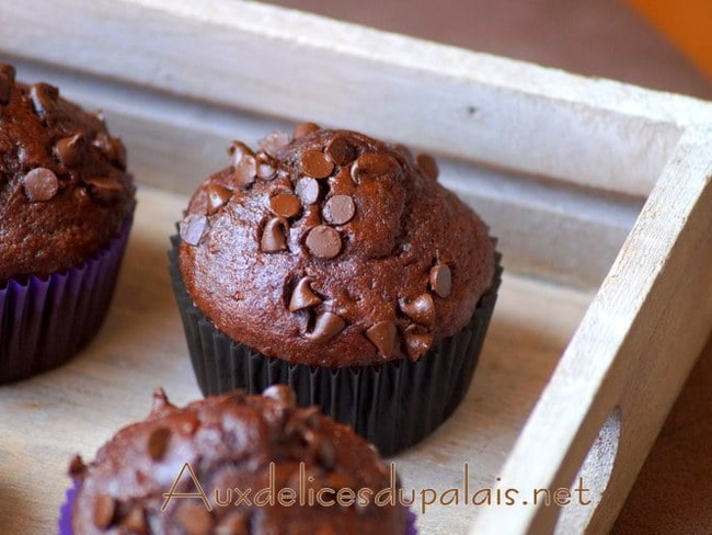 Muffins double chocolat extra moelleux