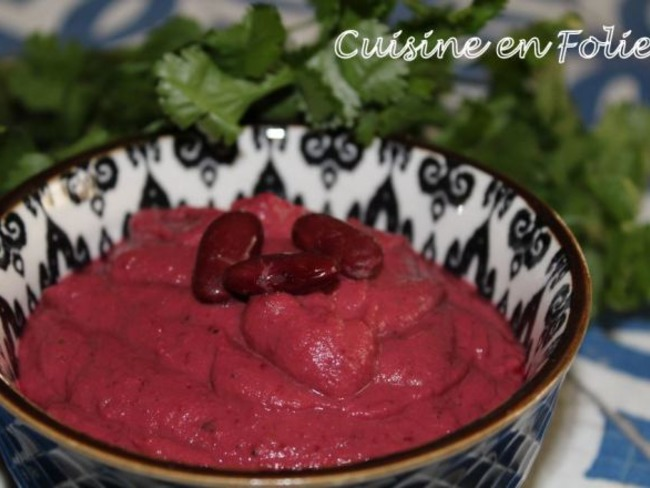 Houmous de haricots rouges et betterave