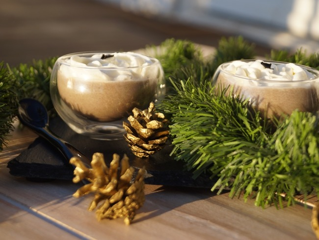 Cappuccino de champignons au foie gras