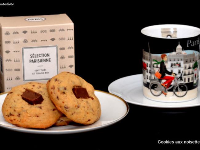 Cookies aux noisettes, chocolat et graines de lin