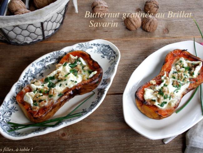 Courge butternut gratinée au Brillat-savarin