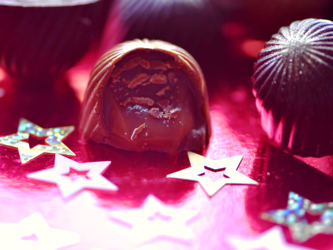 Bonbons de chocolat au citron