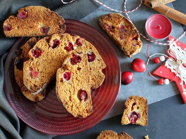 Biscotti cannelle et cranberries